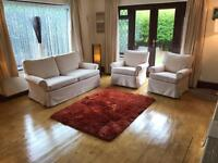 Machine Washable Removable Covers - 2 Seater Sofa + 2 Armchairs Good Condition Delivery Possible