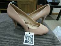 New with tags - The Collection Debenhams heels size 8 ( natural)