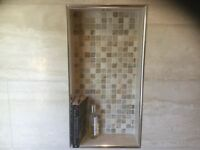 Tumbled Mixed Travertine Mosaics 25 x 25mm