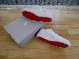 Nike Air Force x Louboutin design white red bottoms new box OG