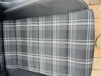 Golf Gtd black and white tartan front seats