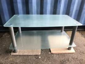 Frosted glass large Tv stand FREE DELIVERY PLYMOUTH AREA