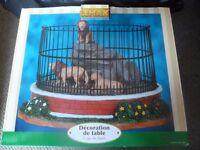 Lemax lion cage / enclosure