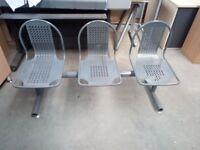 3 Seat indoor/outdoor seating area, steel seating