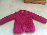 Joules Pink Quilted Jacket Age 2-3