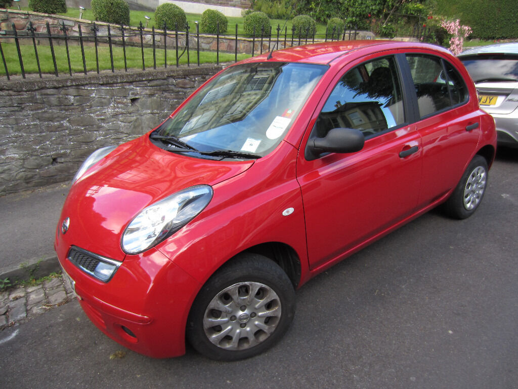 nissan micra visia 2009 16v 5 doors 82 000 miles red finish in redland bristol. Black Bedroom Furniture Sets. Home Design Ideas