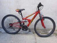 Apollo FS24 18 gears Full Suspension Bike with Shimano Gears