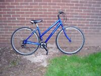 """LADIES, Hybrid Cycle, 18""""ALLOY FRAME, 700c Alloy Wheels, New Parts, SERVICED."""