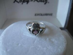 ...LADIES ADORABLE LITTLE STERLING SILVER RING..[SIZE 8]