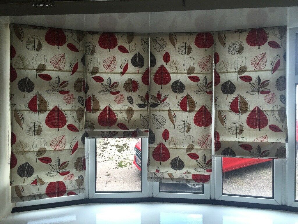 5 Individual Roman Blinds for Bay window