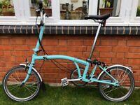 Brompton Folding Bike Blue Used