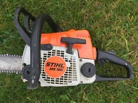"Stihl MS180 Petrol Chainsaw - 14"" Stihl Bar & chain - serviced"