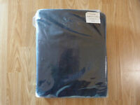 "Tesco Black Faux Suede Unlined Eyelet Curtains W167xL137cm (66x54"")"