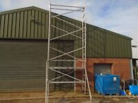narrow scaffold tower