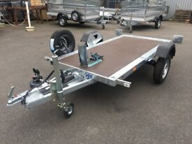 High Quality Motorcycle Trailer no ramp required - Loading made easier!
