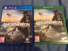 Tom Clancy ghost recon Xbox one/Ps4 £12 each