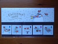 Presentation Pack of Royal Mail mint commemorative stamps: Christmas 2001