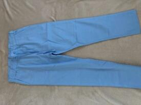 Brand new never worn size 8-10 Powder blue cotton summer trousers.