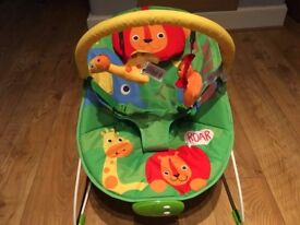 Fisher Price Rainforest Bouncer (With Vibration & Music)