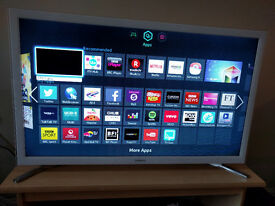 As New NO OFFERS Samsung 32 Inch Smart TV UE32F4510 Series 4 White A+ Energy