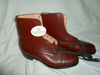 Sanders Officer boots size 8 leather uppers and inners, rubber soles, new cond NEVER WORN no box