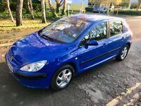 2002 Peugeot 307 LX petrol 1.6 109 BHP - MOT NOV 2018 - 1 month warranty