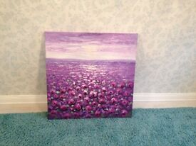 Purple/plum coloured canvas picture