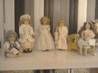 Collectors porcelain dolls