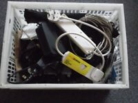 assortment of leads\cables and bits and pieces 80+items,(joblot)