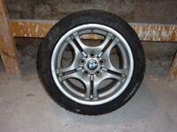 Genuine Bmw E46 17 Alloys & Winter tyres + Set 4 Standard Tyres.