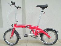 Dahon Curve Folding Bike With Seatpost Pump & Bike Bag In Excellent Condition