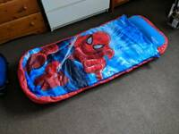 Childrens spiderman sleeping bag readybed
