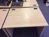 4 x Office Desks- Maple W-1000mm, D-800mm, H-720mm