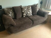 Brown jumbo chord sofa from DFS (2 & 3 Seater)