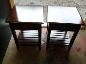 EX HSL Ex display Oxford style pair of side tables RRP £190 each US £60.pair