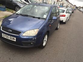 Ford Focus CMax 1.6 Auto Diesel, 55 Reg, powerful engine, low mileage, smooth drive, one year mot