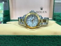 BrandNew Ladies Rolex Yacthmaster II white face automatic sweeping movement