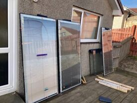 Double glazed units with internal blinds. Ideal for summer house etc