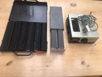 35 mm Slide Projector, Screen, Slide magazines and Case