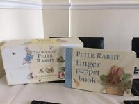 Peter Rabbit book collection and peter Rabbit finger puppet book