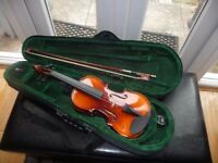 ANTONI ACV 33 1/4 SIZE VIOLIN&CASE &MUSIC STAND