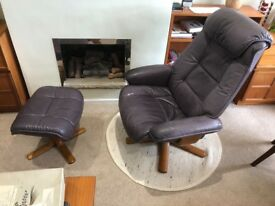 G-Plan 2 seater sofa, leather chair and footstool-prices from £85.00
