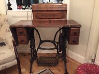 Antique French sewing machine