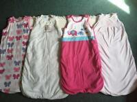 4 x Sleeping Bags- JoJo/Gro company/Junior J/Monthercare, 6-18 Months, 2.5 Tog