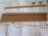 Wooden Venetian Blind, 106.5cm x 128cm (drop); 3cm slats