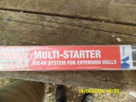 Wall Starter Kit. stainless Steel.