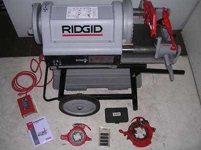 Ridgid 1224 Pipe Threader 12-4 Lightly Used 2 Die Heads 711 714 To 6 W 161