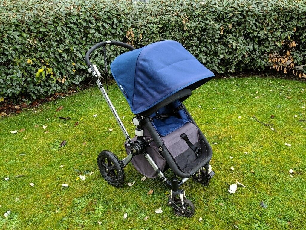 Bugaboo Cameleon Pushchair With Carrycot Footmuff And Car Seat Adapters