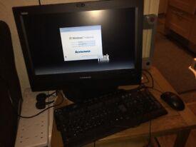 Lenovo All in one computer m73z i3 8gb ram 500gb dvdrw win7 built in wifi