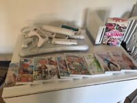 Nintendo Wii white console Wii fit board and games bundle